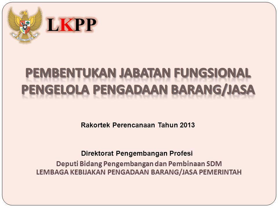 Rakortek Perencanaan Tahun 2013 Direktorat Pengembangan Profesi