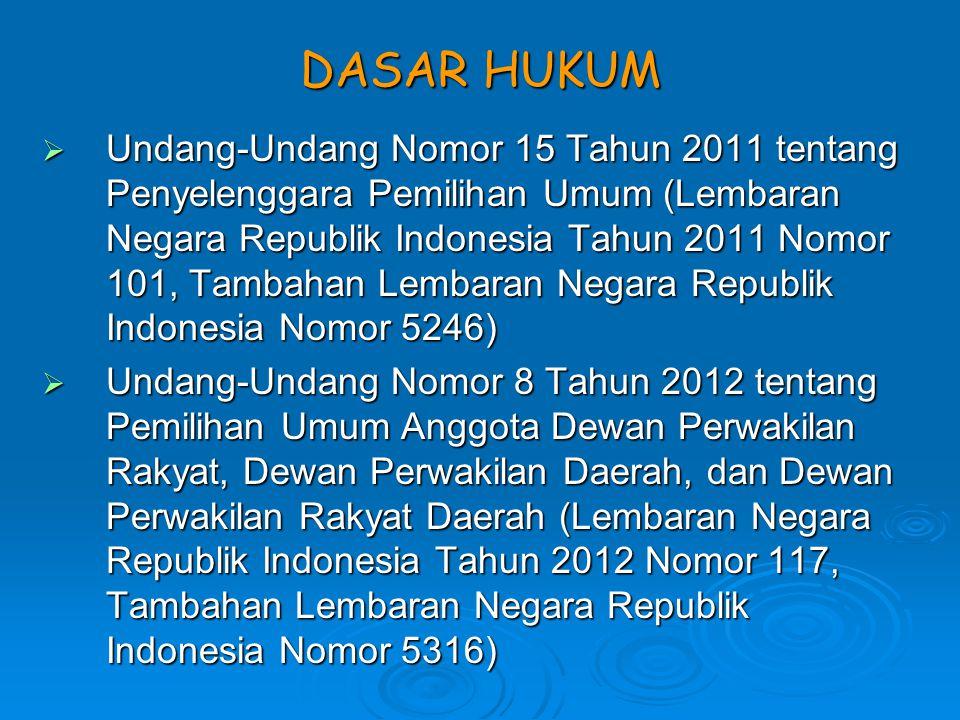 Tahapan Pemilu Anggota DPR, DPD, dan DPRD meliputi : a.