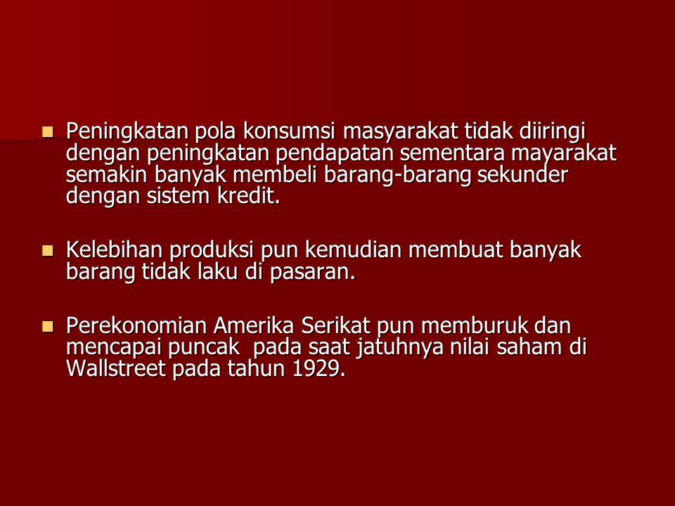 Penyebab Krisis Ekonomi Dunia 1929  Krisis kelebihan produksi secara umum.