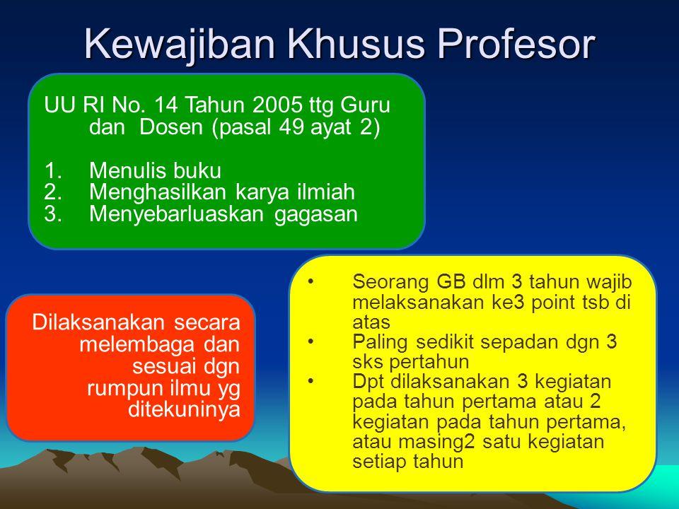 Kewajiban Khusus Profesor UU RI No.