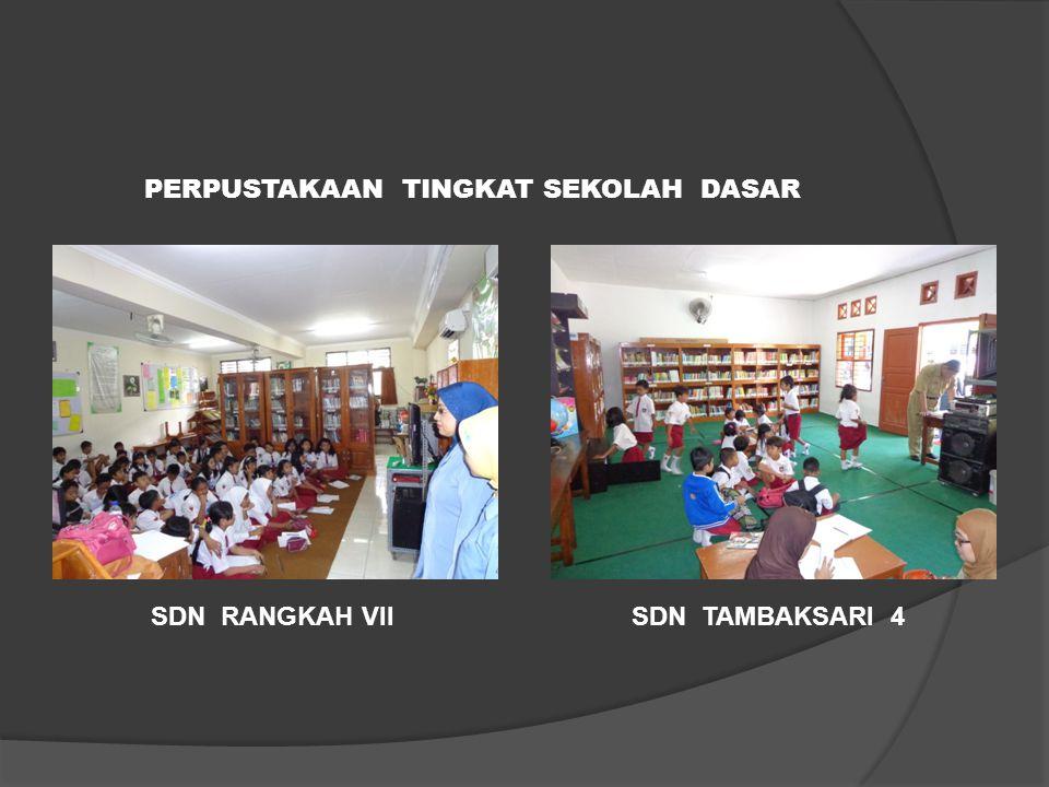 6. Pengembangan Taman Bacaan/Sudut Baca Sekolah (27 LOKASI) 44 SDN Tambaksari IV SDN Dupak 1