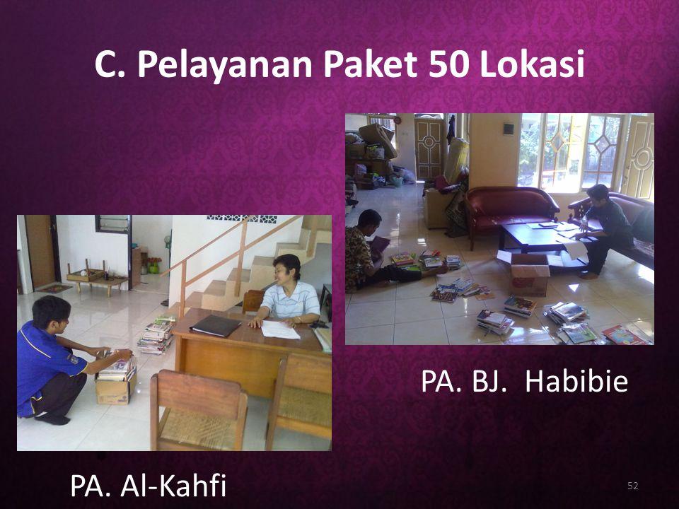 C. Pelayanan Paket 50 Lokasi 52 PA. Al-Kahfi PA. BJ. Habibie