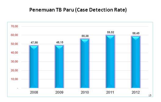 15 Penemuan TB Paru (Case Detection Rate)