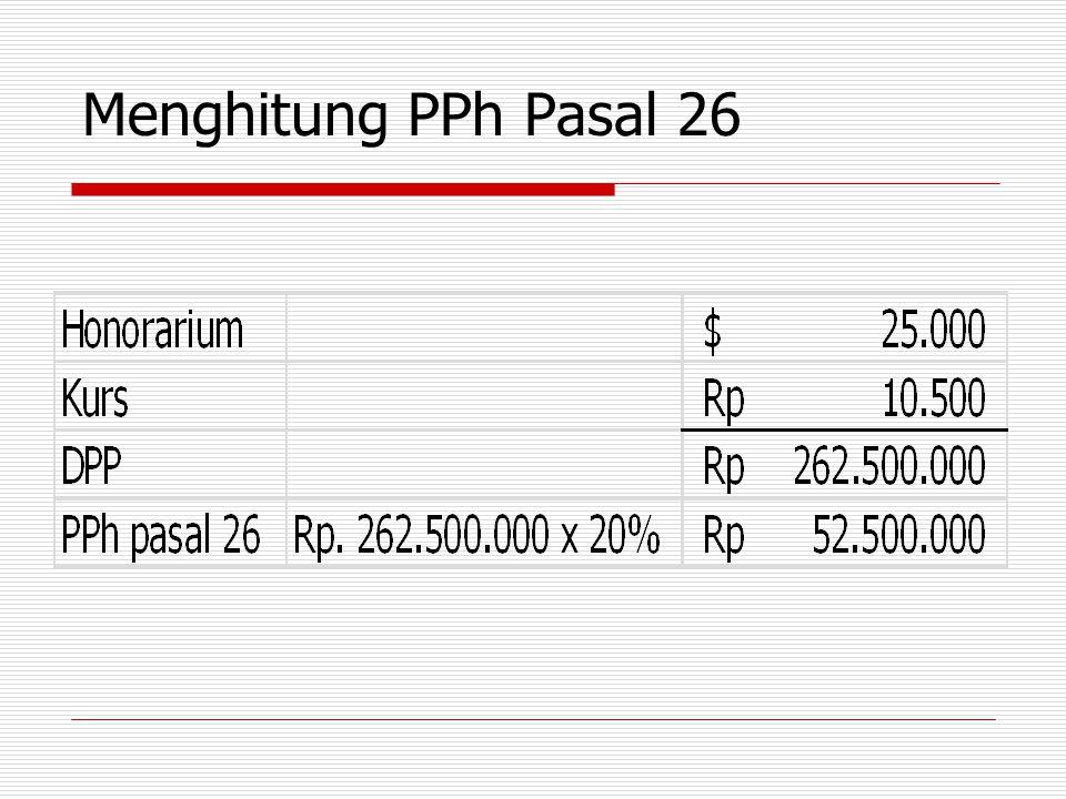 Menghitung PPh Pasal 26