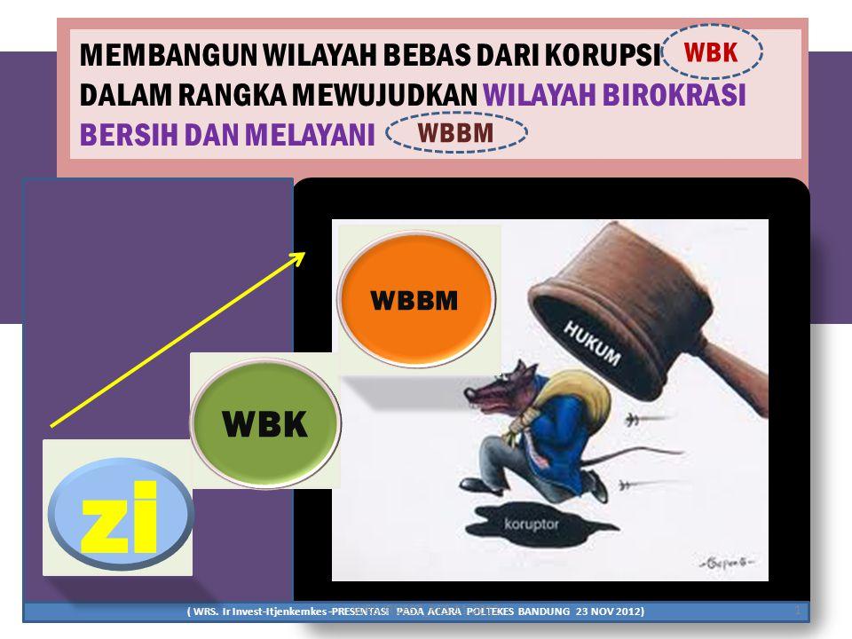 PEMBANGUNAN ZONA INTEGRITAS MENUJU WBK DAN WBBM (KEPMENPAN DAN RB NO. 60 TAHUN 2012) PEMBANGUNAN ZONA INTEGRITAS MENUJU WBK DAN WBBM (KEPMENPAN DAN RB