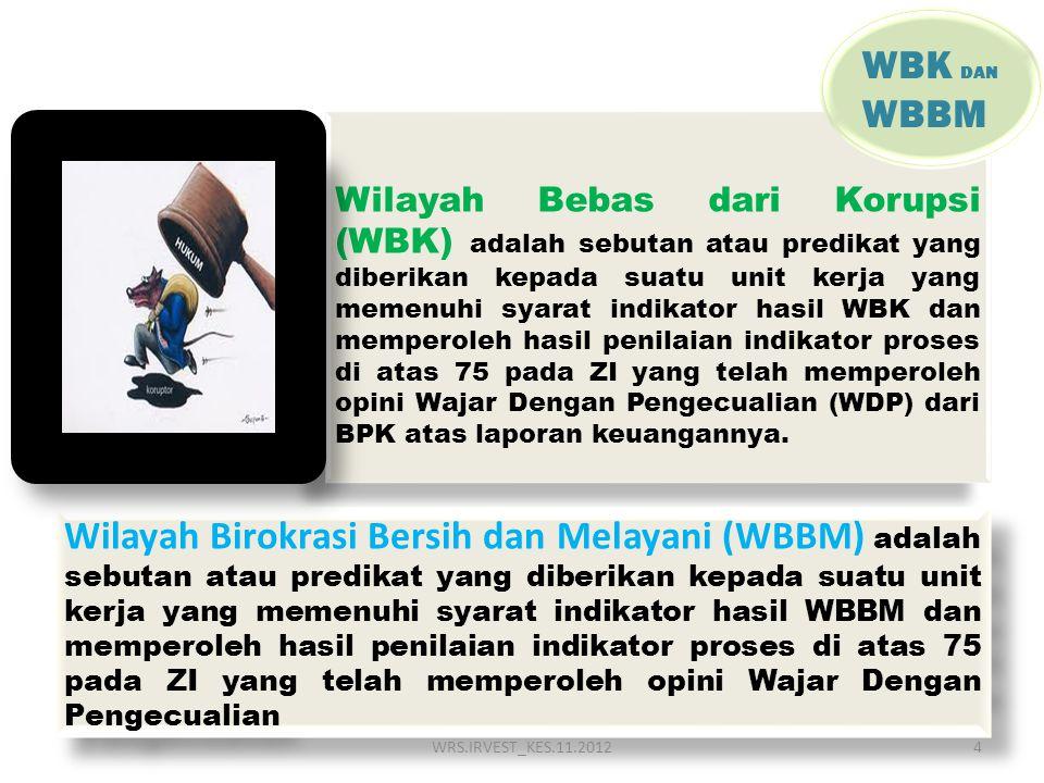 Wilayah Bebas dari Korupsi (WBK) adalah sebutan atau predikat yang diberikan kepada suatu unit kerja yang memenuhi syarat indikator hasil WBK dan memp