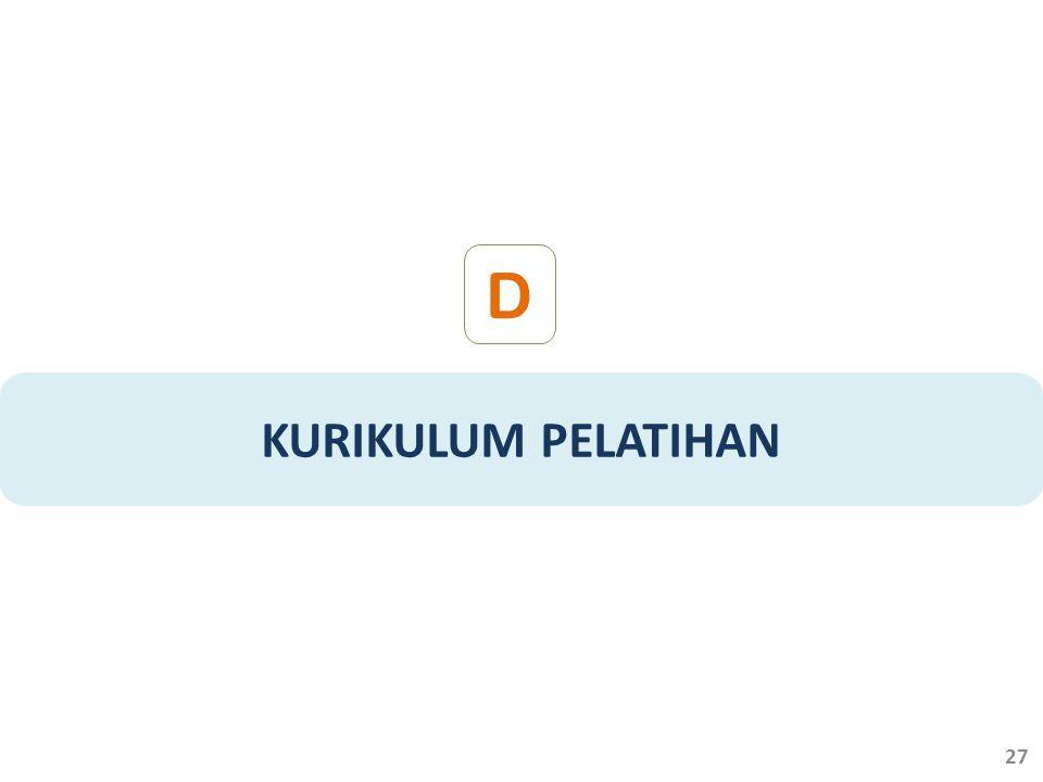 KURIKULUM PELATIHAN D 27