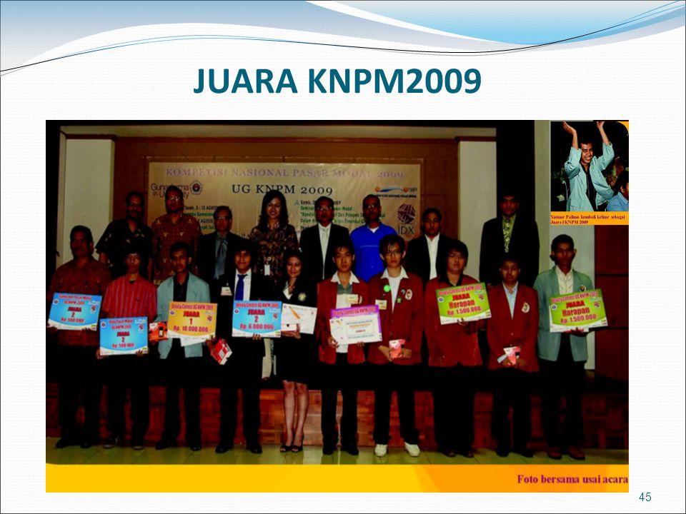 45 JUARA KNPM2009