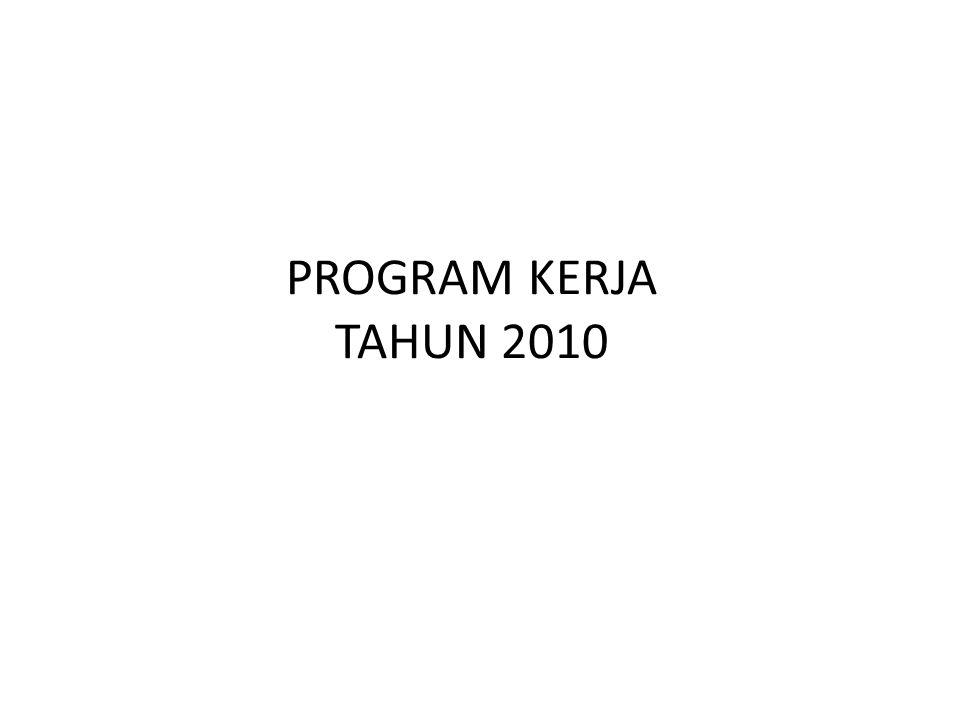 PROGRAM KERJA TAHUN 2010