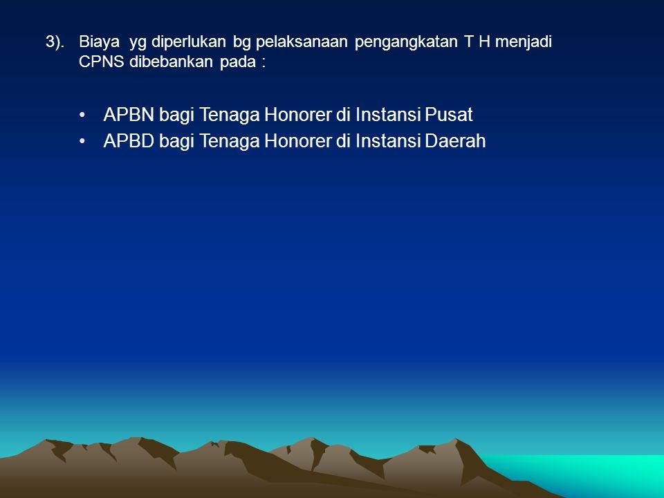 e. Tahun PP No. 43 Tahun 2007 ttg Perubahan atas PP Nomotr 48 Tahun 2005 tentang pengangkatan Tenaga Honorer menjadi CPNS. •Usia Maksimal 46, minimal