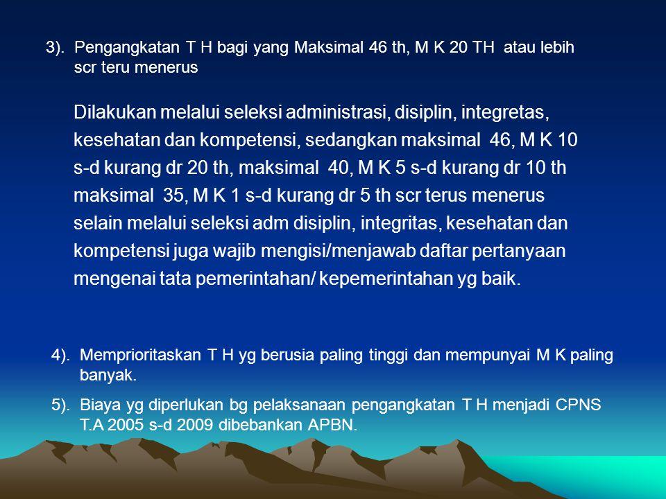 PENGANGKATAN MENJADI CPNS 1.Surat Keputusan Pengangkatan sebagai CPNS a.