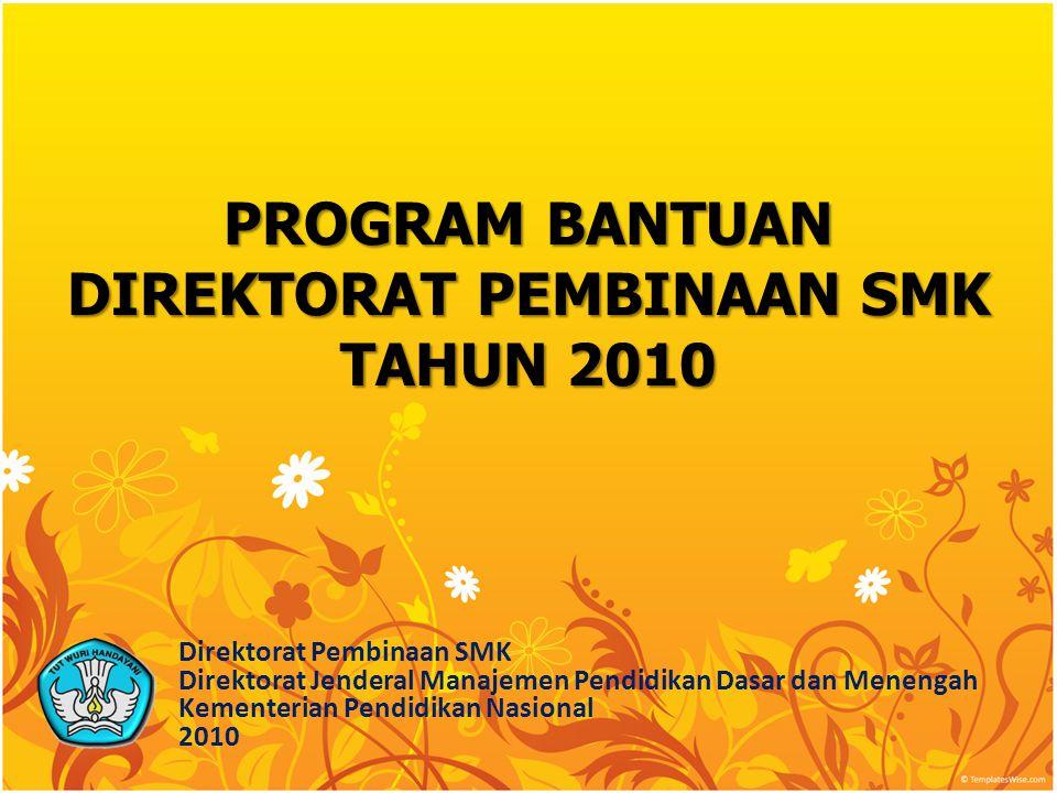 Dengan Semangat Kebersamaan, Kita Wujudkan Layanan Prima Pendidikan Menengah Kejuruan untuk Membentuk Lulusan SMK yang berjiwa Wirausaha, Cerdas, Siap Kerja, Kompetitif, dan Memiliki Jati Diri Bangsa TEMA TAHUN 2010