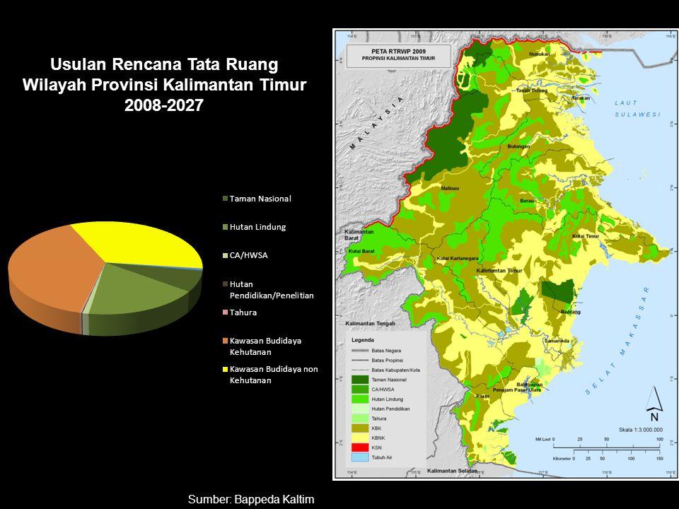 Usulan Rencana Tata Ruang Wilayah Provinsi Kalimantan Timur 2008-2027 Sumber: Bappeda Kaltim