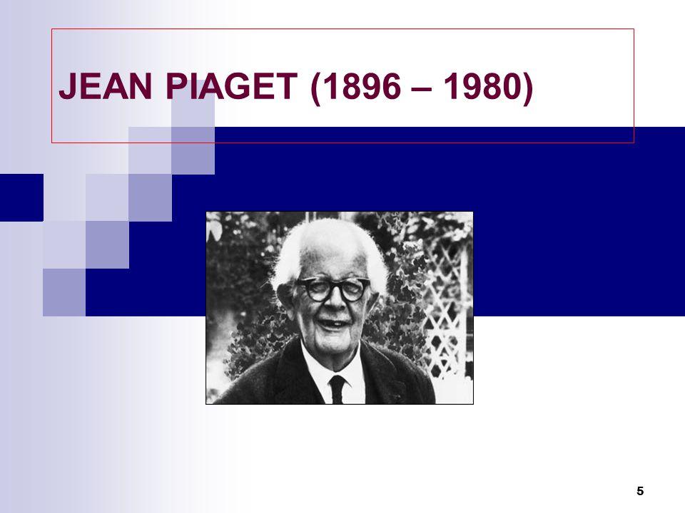 Piaget  Jean Piaget menekankan bahwa anak- anak membangun secara aktif dunia kognitif mereka; informasi tidak sekadar dituangkan ke dalam pikiran mereka dari lingkungan.