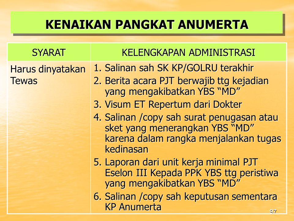96 PNS DPK/DPB SECARA PENUH DILUAR INSTANSI INDUK DIANGKAT DALAM JABATAN PIMPINAN /FUNGSIONAL TERTENTU a.