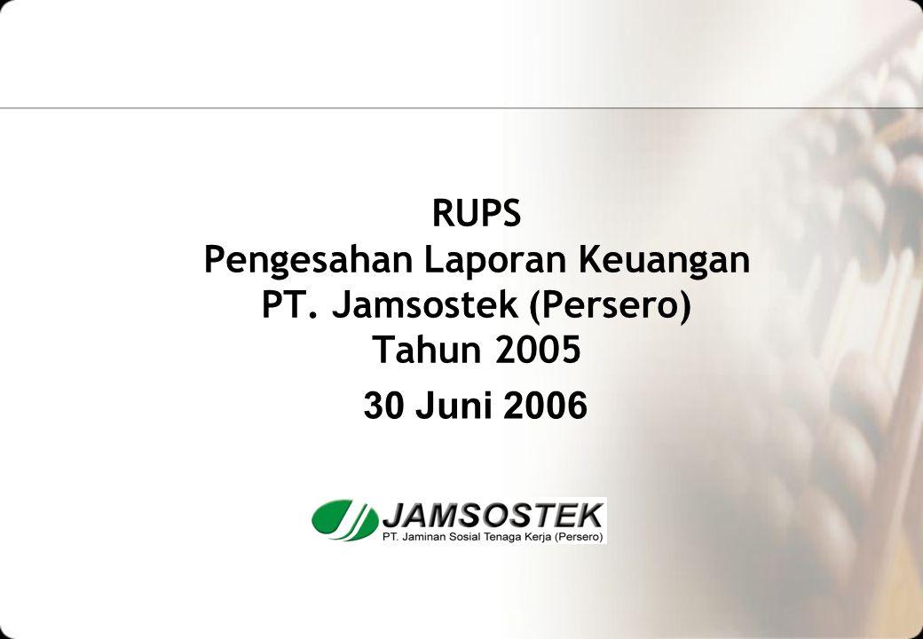 RUPS Pengesahan Laporan Keuangan PT. Jamsostek (Persero) Tahun 2005 30 Juni 2006
