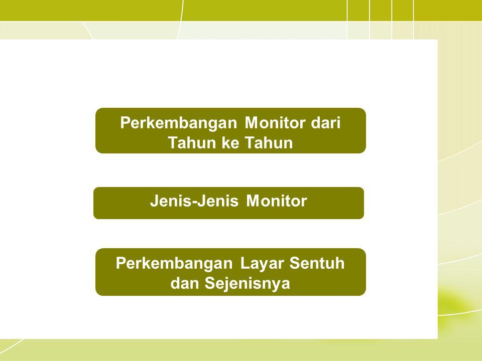 Perkembangan Monitor dari Tahun ke Tahun Jenis-Jenis Monitor Perkembangan Layar Sentuh dan Sejenisnya