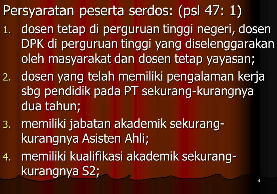 17 tim sertifikasi dosen nasional Prosedur Serdos (3) 6.
