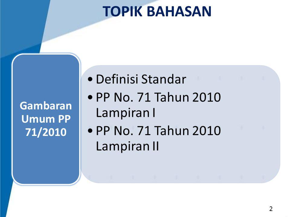 PENTAHAPAN PENERAPAN SAP BERBASIS AKRUAL 1.Pemerintah dapat menerapkan SAP Berbasis Akrual secara bertahap dengan ketentuan penerapan sepenuhnya paling lambat tahun anggaran 2015 2.Tahapan penerapan SAP Berbasis Akrual pada pemerintah pusat diatur lebih lanjut oleh Menteri Keuangan.