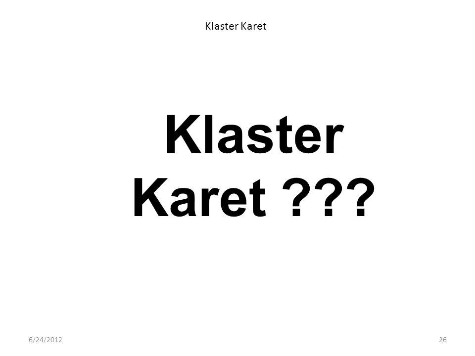 Klaster Karet Klaster Karet ??? 6/24/201226