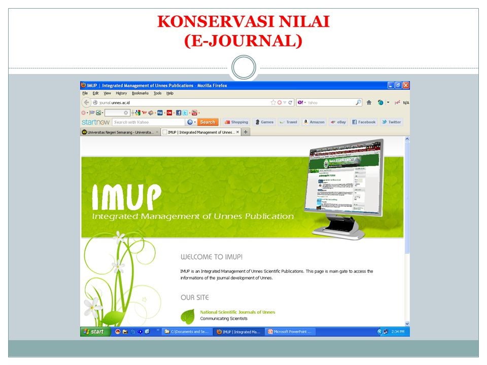 KONSERVASI NILAI (E-JOURNAL)