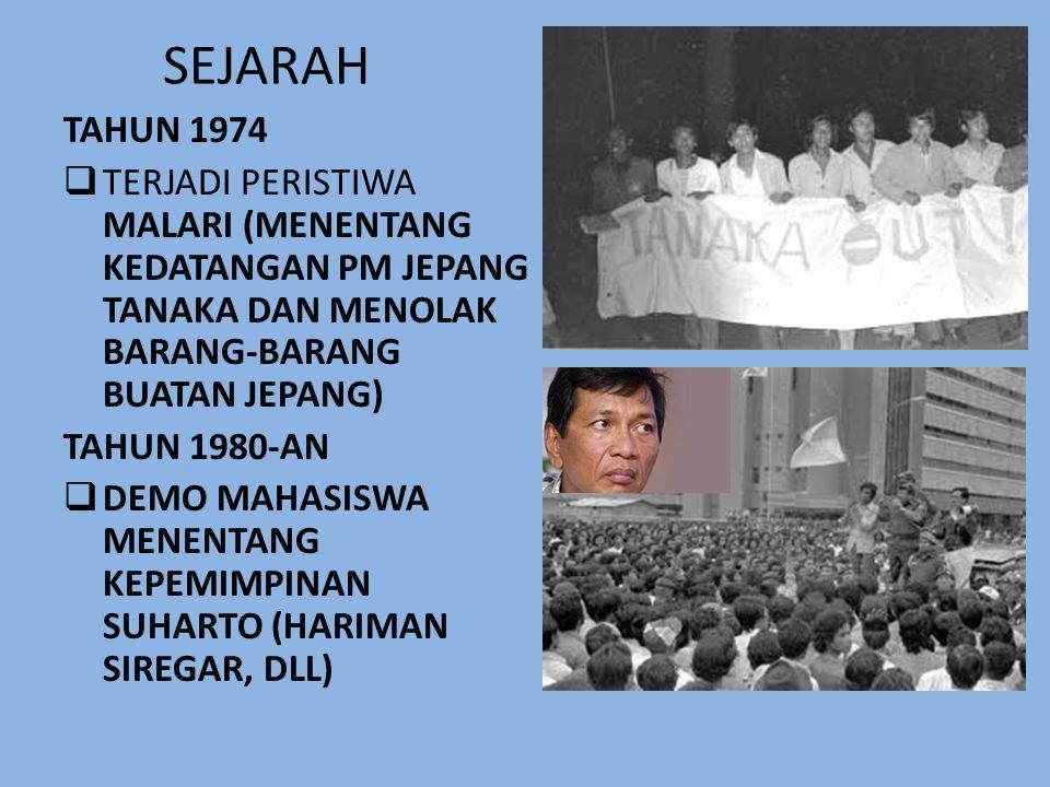 SEJARAH • TAHUN 1966  ORDE BARU SEBAGAI ORDE PEMBANGUNAN  DITETAPKANNYA TAP MPR NO.