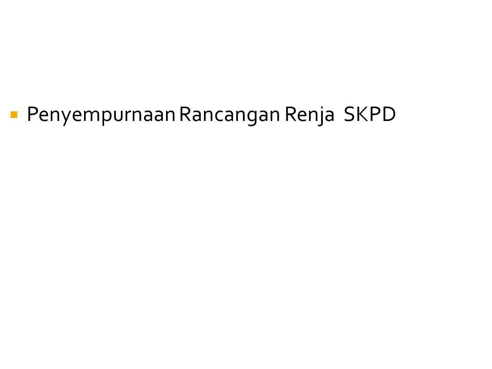  Penyempurnaan Rancangan Renja SKPD