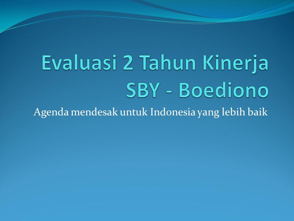 Agenda mendesak untuk Indonesia yang lebih baik