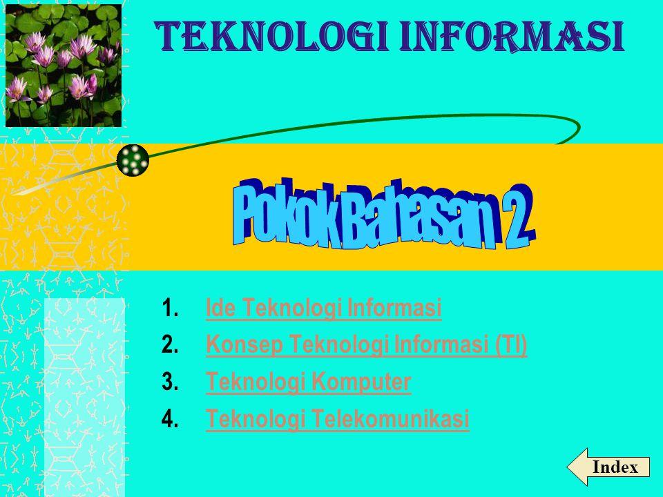1.Ide Teknologi InformasiIde Teknologi Informasi 2.Konsep Teknologi Informasi (TI)Konsep Teknologi Informasi (TI) 3.Teknologi KomputerTeknologi Komput