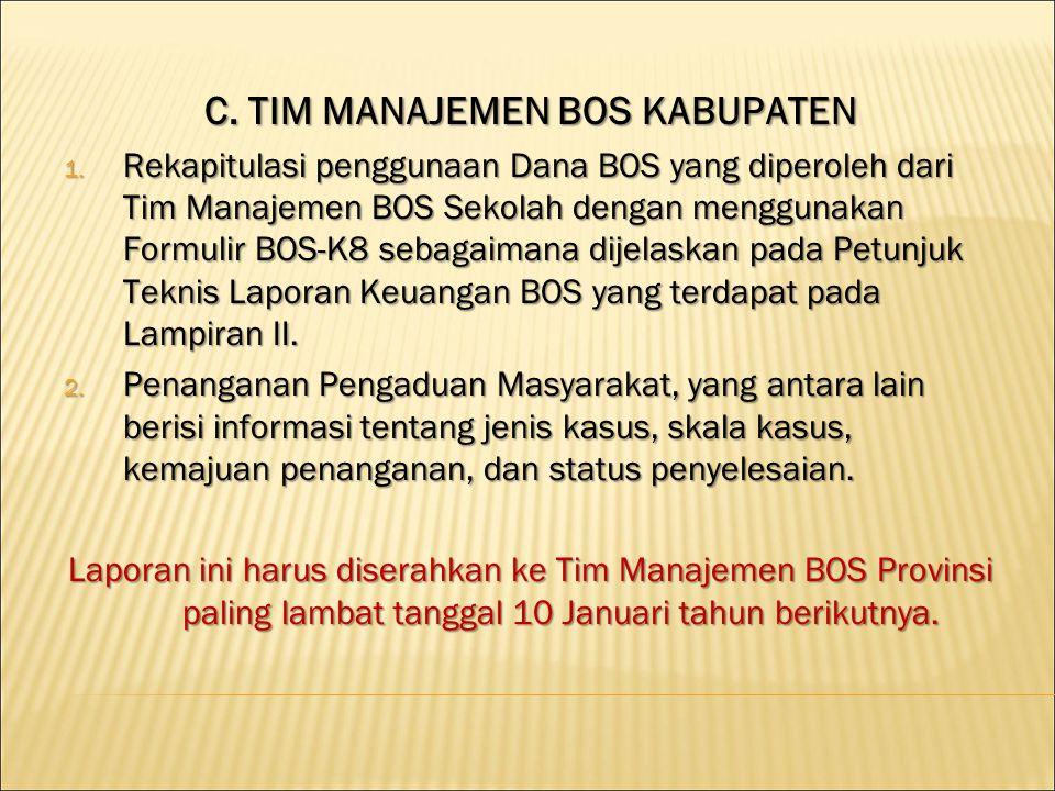 D.TIM MANAJEMEN BOS SEKOLAH 1. Laporan Triwulan 1.