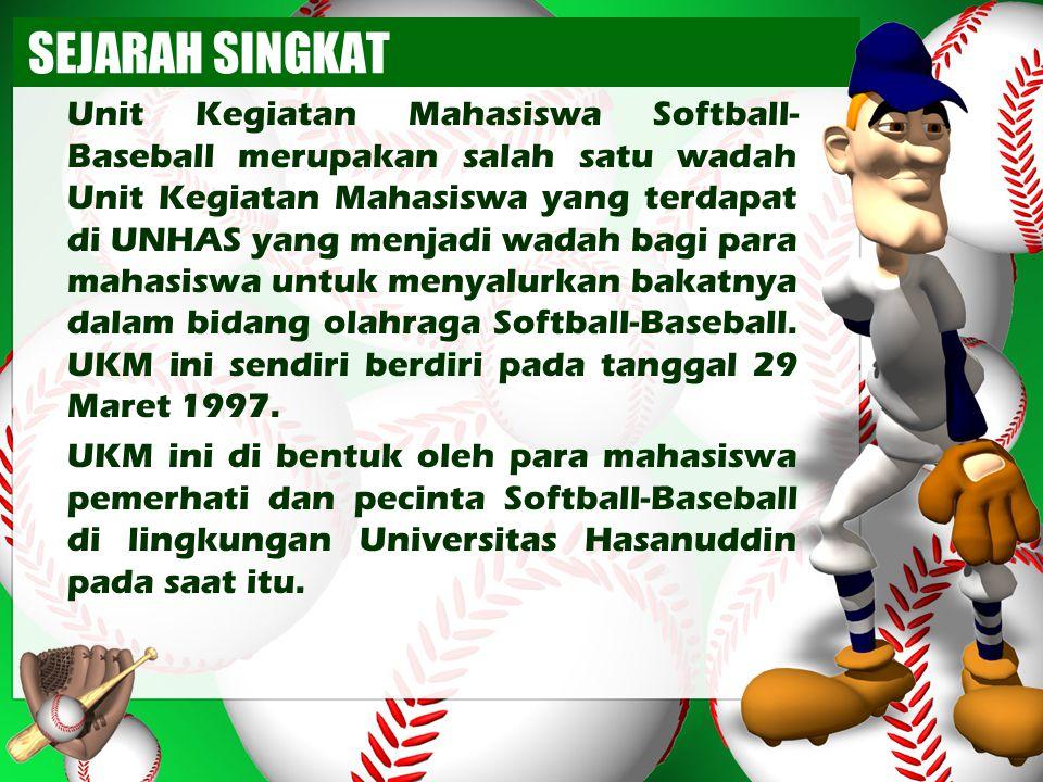 Ketua Umum UKM Softball-Baseball Universitas Hasanuddin Periode 1998 – 1999 Hendra Gunawan Fak.