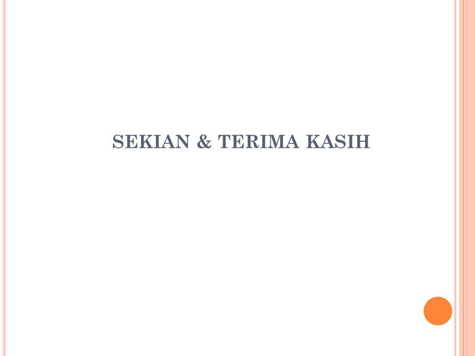 SEKIAN & TERIMA KASIH