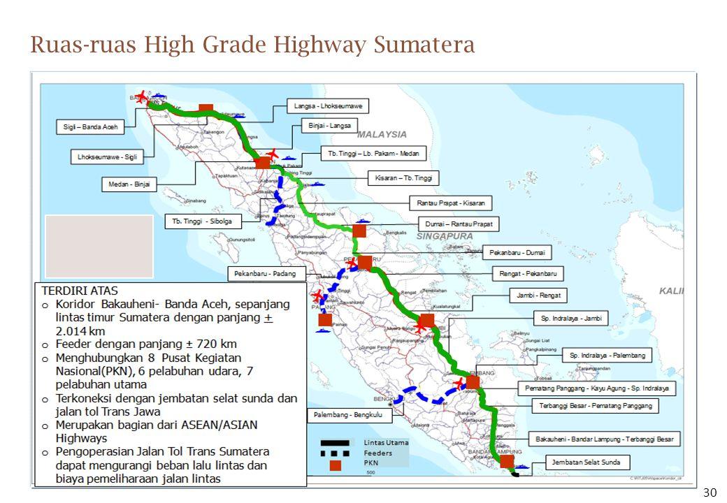 Ruas-ruas High Grade Highway Sumatera 30