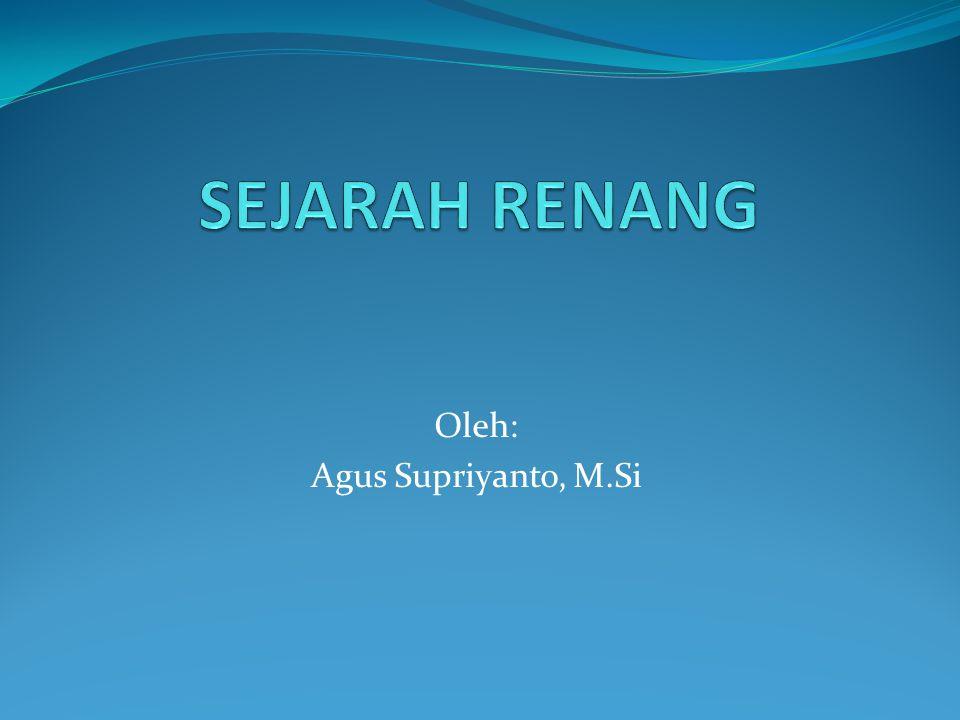 Oleh: Agus Supriyanto, M.Si
