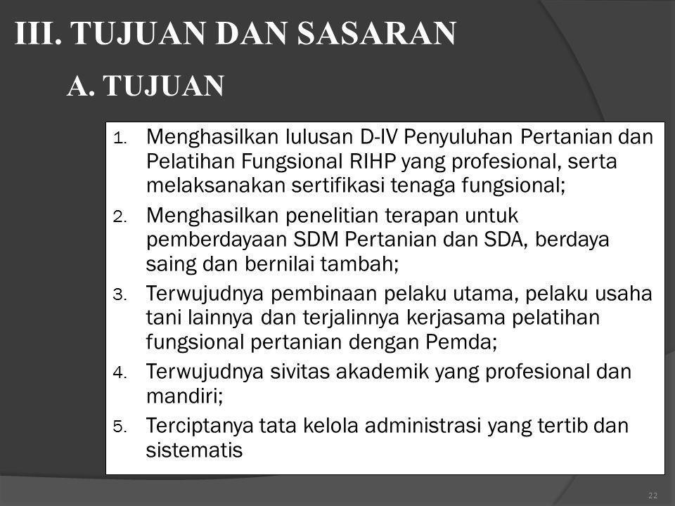 21 B.MISI STPP GOWA 1. Menerapkan Sistem Pendidikan Profesional, produktif, berdayaguna, dan akuntabel; 2. Meningkatkan dan menerapkan hasil penelitia