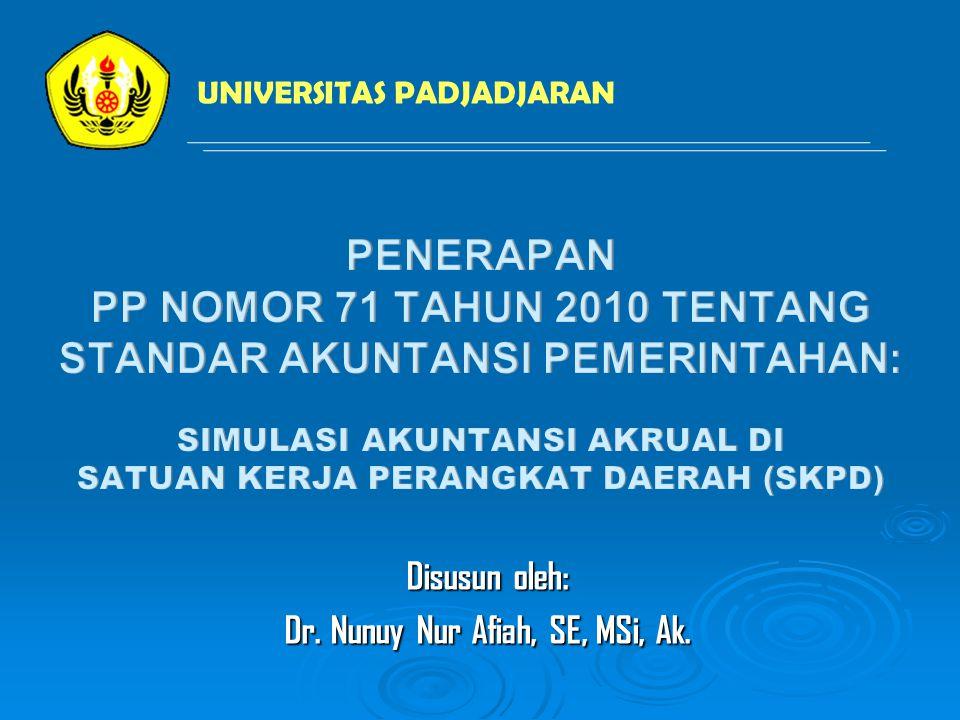 Disusun oleh: Dr. Nunuy Nur Afiah, SE, MSi, Ak. UNIVERSITAS PADJADJARAN