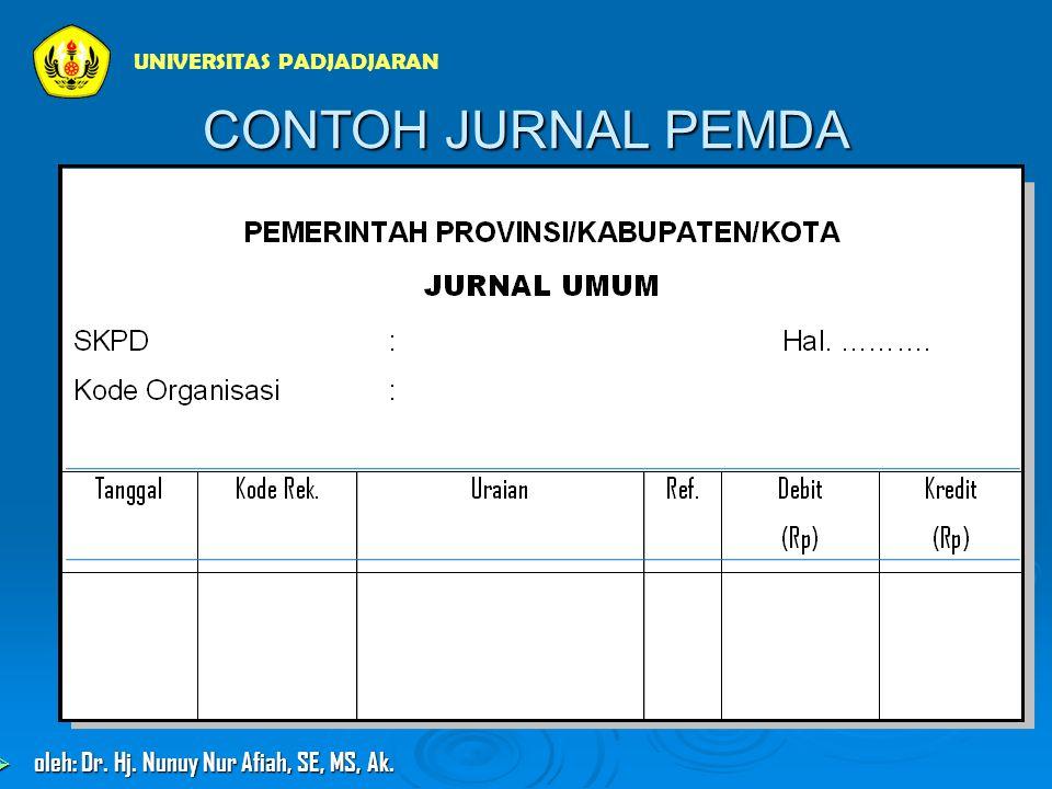 CONTOH JURNAL PEMDA UNIVERSITAS PADJADJARAN  oleh: Dr. Hj. Nunuy Nur Afiah, SE, MS, Ak.