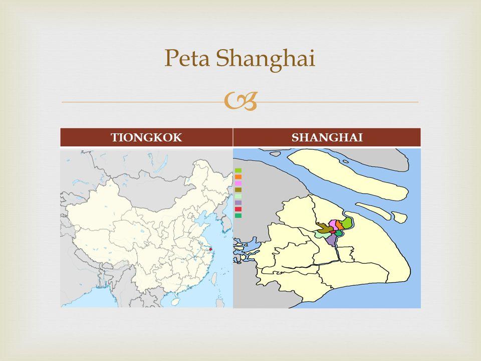  Peta Shanghai TIONGKOKSHANGHAI