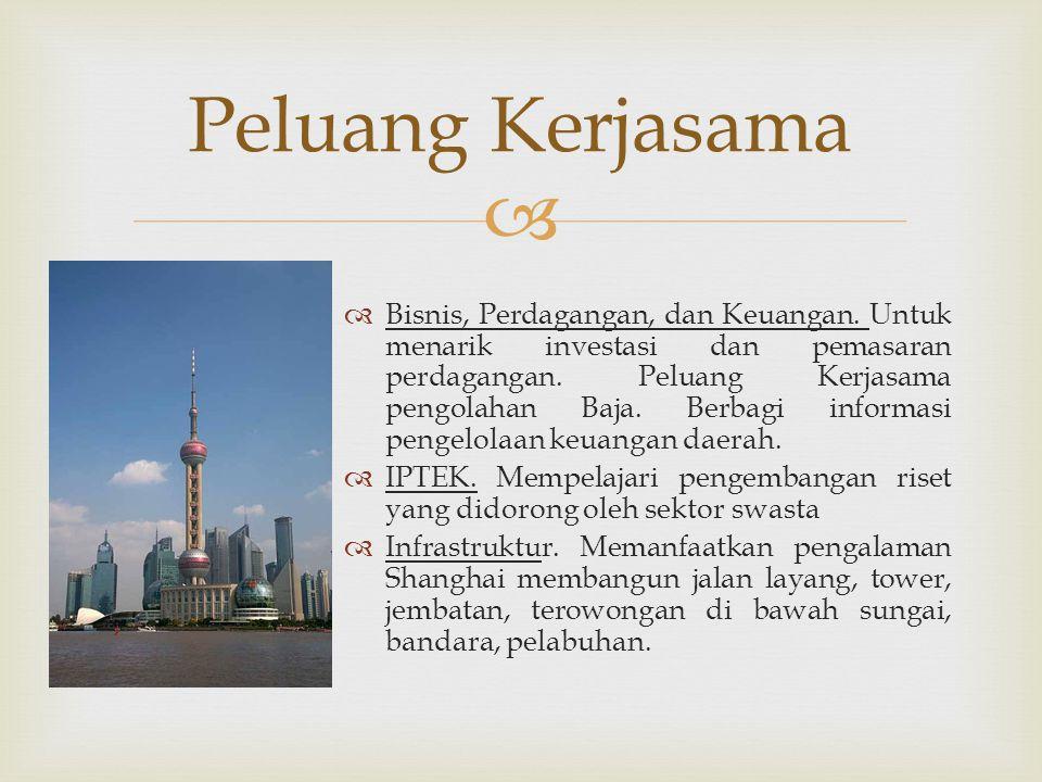   Bisnis, Perdagangan, dan Keuangan. Untuk menarik investasi dan pemasaran perdagangan.