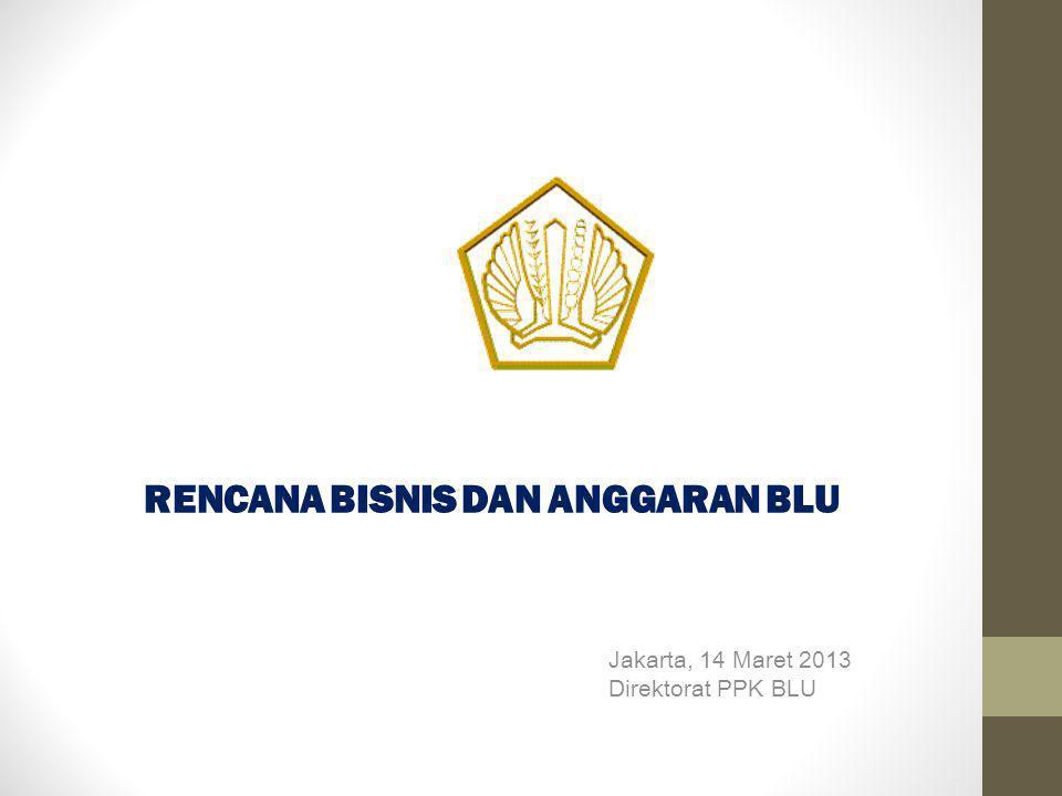RENCANA BISNIS DAN ANGGARAN BLU Jakarta, 14 Maret 2013 Direktorat PPK BLU