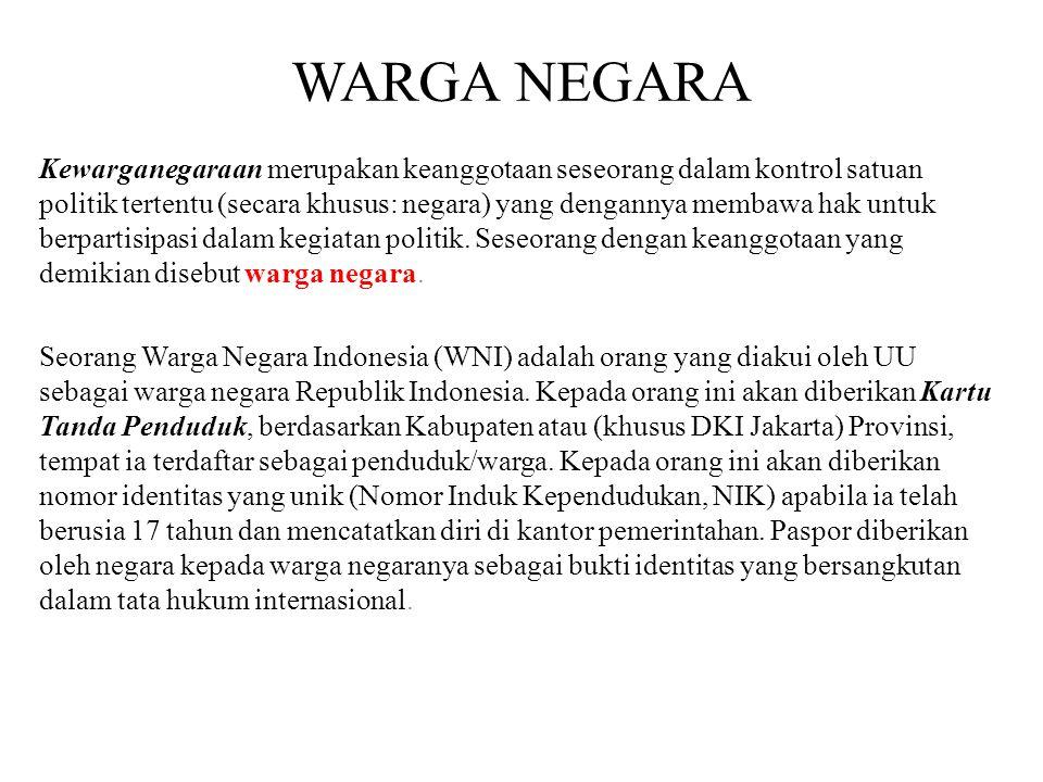 Kewarganegaraan Republik Indonesia diatur dalam UU no.