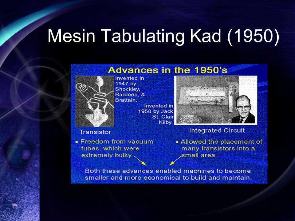 Mesin Tabulating Kad (1950)