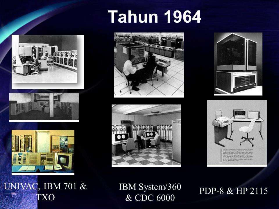 UNIVAC, IBM 701 & TXO IBM System/360 & CDC 6000 PDP-8 & HP 2115 Tahun 1964
