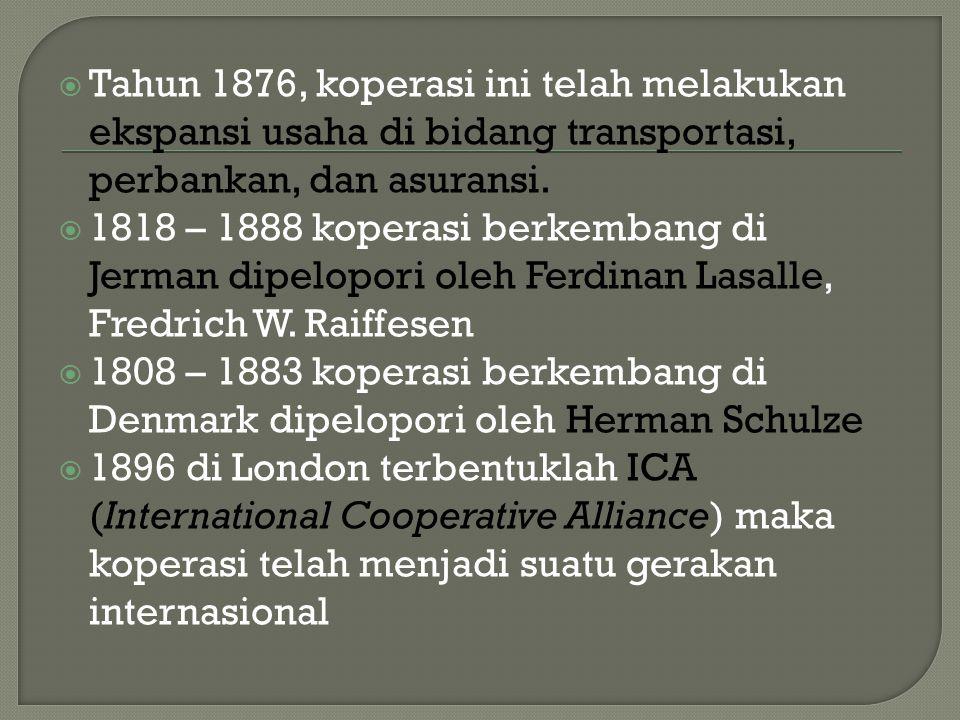  1895 di Leuwiliang didirikan pertama kali koperasi di Indonesia (Sukoco, Seratus Tahun Koperasi di Indonesia ).
