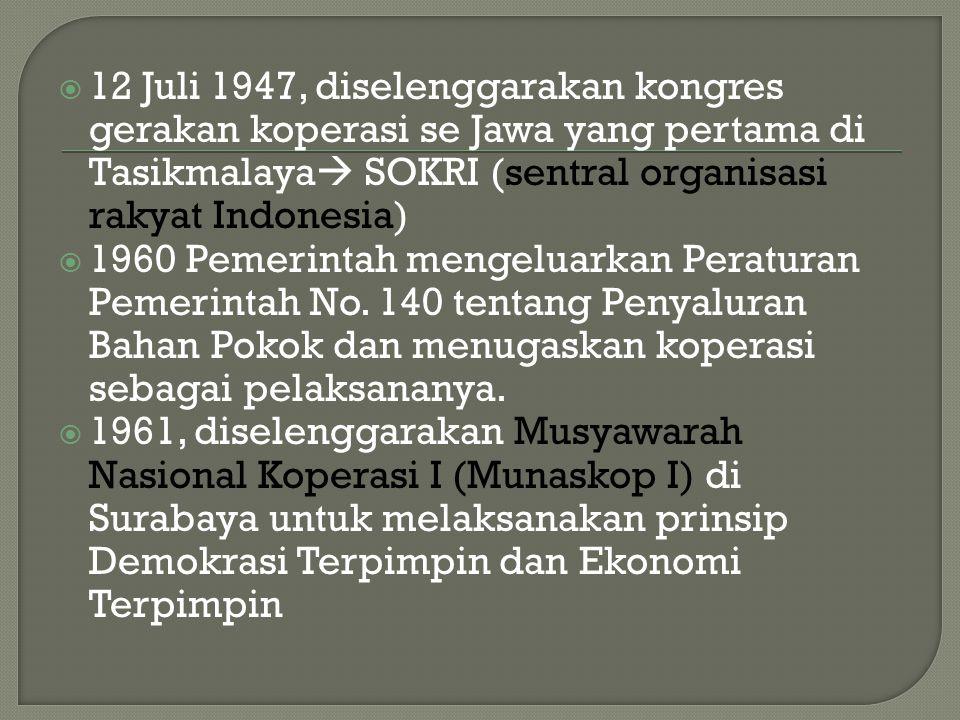  1965, Pemerintah mengeluarkan Undang- Undang No.