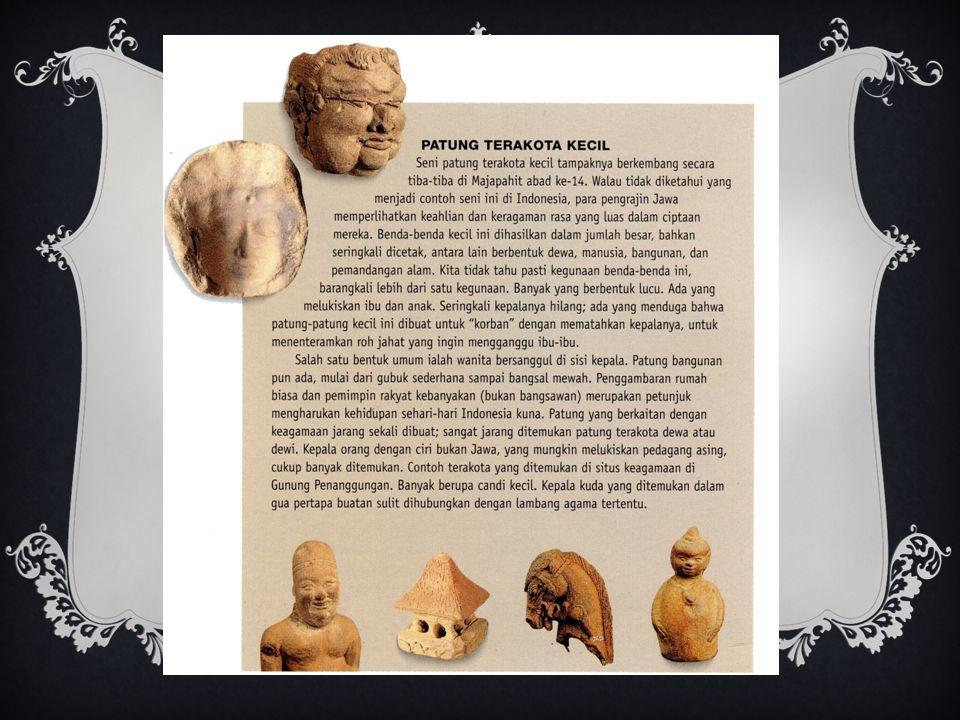 Patung perunggu,mungkin perwujudan Krisna. Salah 1 diantara sedikit patung perunggu dari Majapahit