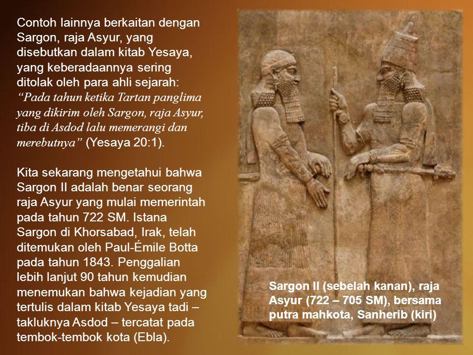 Contohnya catatan sejarah dari kota kuno Ebla di Suriah utara yang ditemukan di tahun 1970an.