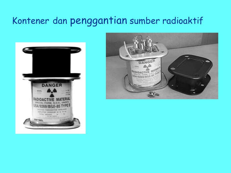 Kontener dan penggantian sumber radioaktif
