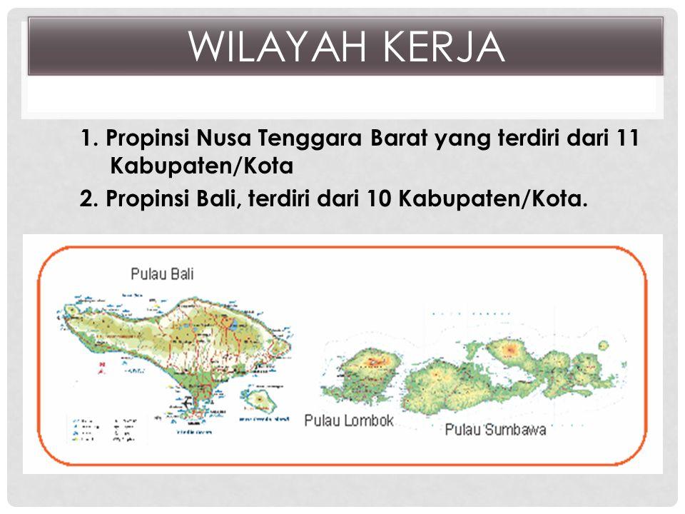 1.Propinsi Nusa Tenggara Barat yang terdiri dari 11 Kabupaten/Kota 2.