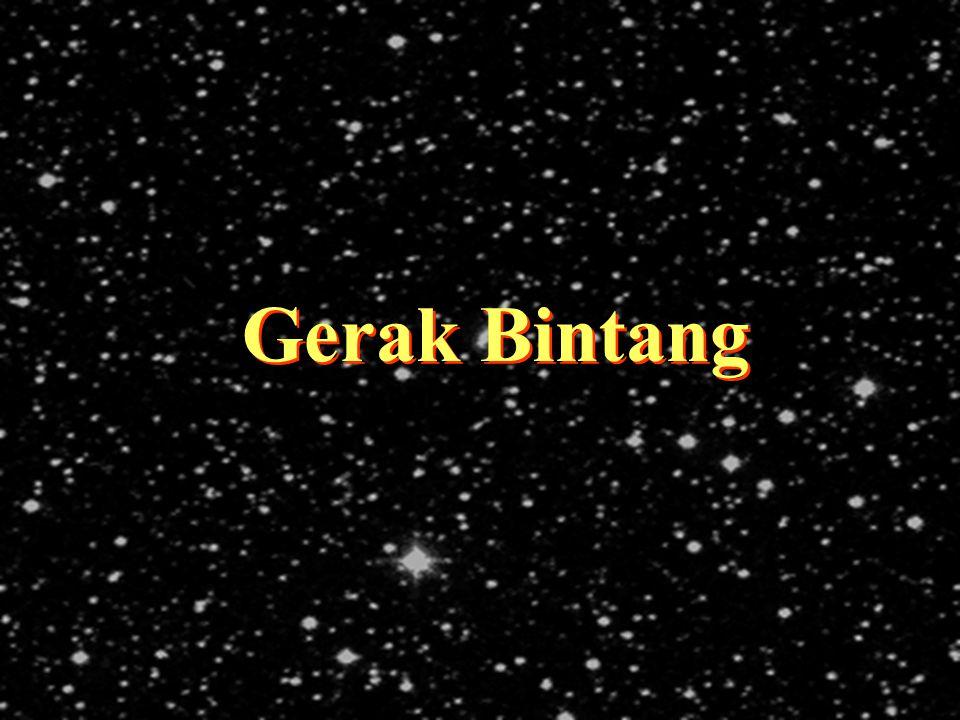 DND - 2006                     Bintang tidak diam, tapi bergerak di ruang angkasa.